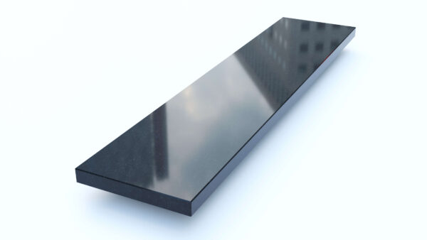 Steenbok Natuursteen Vensterbank Graniet Absolute Black (zwart, gepolijst)