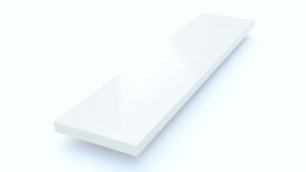Steenbok Natuursteen Vensterbank Composiet Silk White (wit, gepolijst)