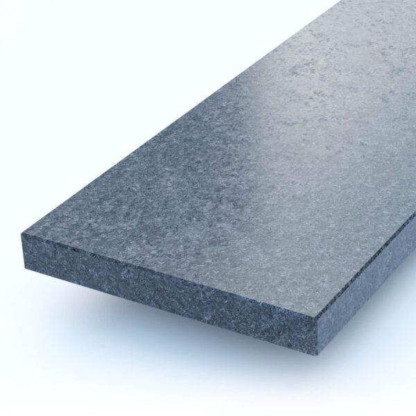 Steenbok Natuursteen Vensterbank Graniet Steel Grey (grijs, gezoet) Close-up