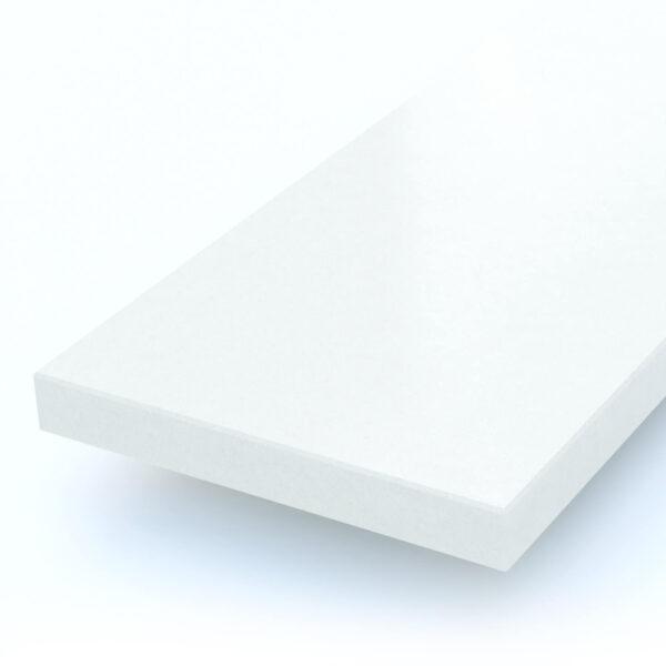 Steenbok Natuursteen Vensterbank Composiet Silk White (wit, gepolijst) Close-up