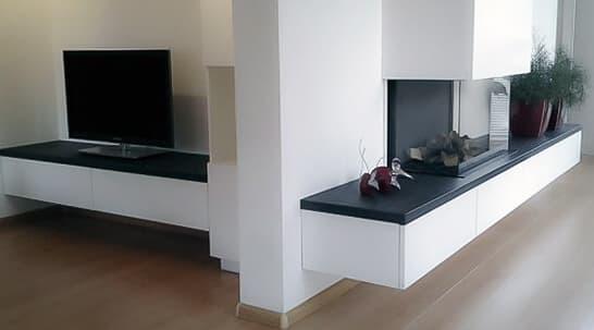 Steenbok Natuursteen Haardplateau Graniet Absolute Black (zwart, gepolijst)